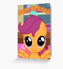 Scootaloo Birthday Card - Postcard My Little Pony Greeting Card