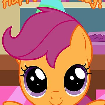 Scootaloo Birthday Card - Postcard My Little Pony by FalakTheWolf