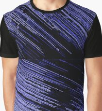Line Art - The Scratch, blue stripes pattern, striped Graphic T-Shirt
