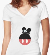 Mouse droid Women's Fitted V-Neck T-Shirt