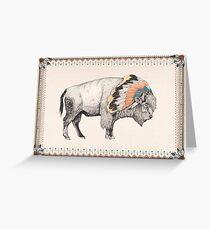 White Bison Greeting Card
