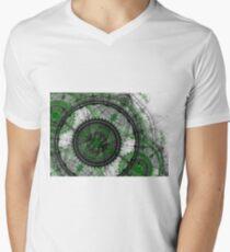 Abstract mechanical fractal Mens V-Neck T-Shirt