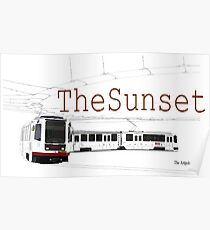 Muni Train in the Sunset Poster