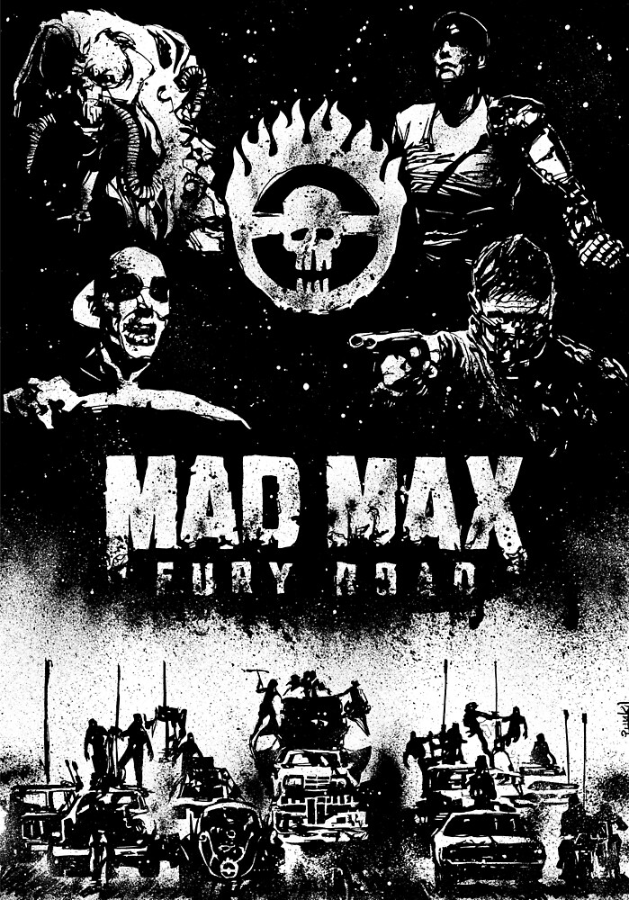 Fabio Punk Baldolini For Mad Max Fury Draw by sixeleven agency