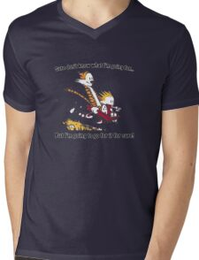 Calvin Go for it! Mens V-Neck T-Shirt