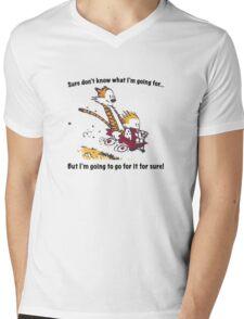 Calvin Go for it! Mens V-Neck T-Shirt