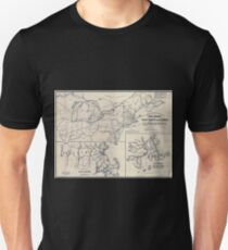 0040 Railroad Maps Skeleton map of rail-roads between Cape Canso and St T-Shirt