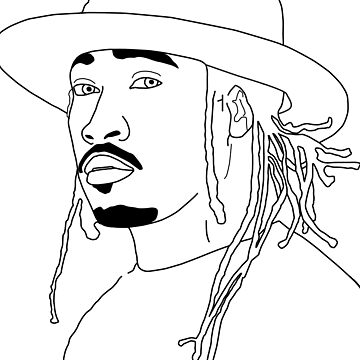 Future Hendrix black and white outline by ethancs6