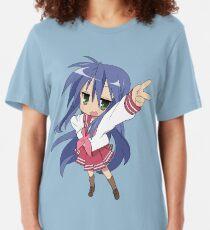 Japanese Otaku Konata Izumi Anime Black T-shirt