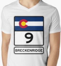 CO-9 Breckenridge Colorado - Road Sign T-Shirt