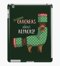Christmas Crackers About Alpacas! iPad Case/Skin