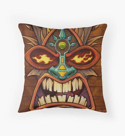Tiki Head Style 3 Throw Pillow