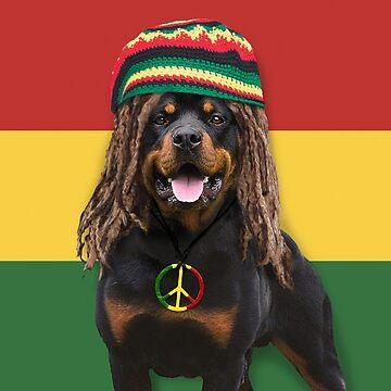 Rasta Dog by POPWORX