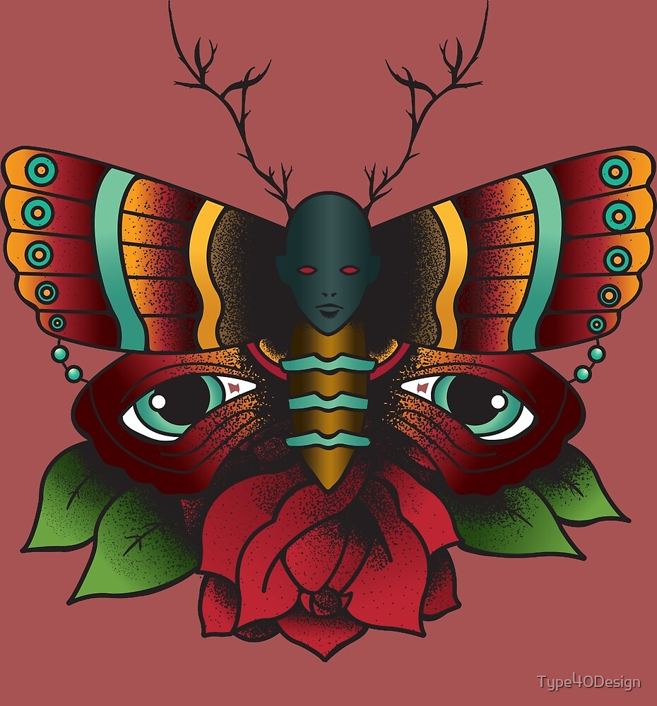 Wendigo Moth by Type40Design
