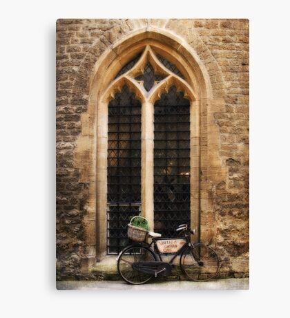 The Vaults Garden Cafe Bicycle, Oxford, England Canvas Print