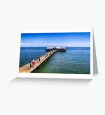 Anna Maria Island City Pier in Bradenton, FL Greeting Card