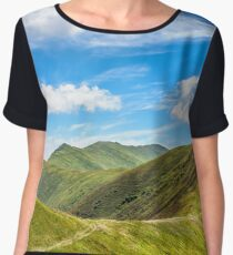 path to the mountain top Women's Chiffon Top