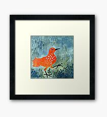 Bird Brain Rain Dance Framed Print