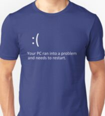 BLUE SCREEN OF DEATH - Windows 8/10 Blue Screen Graphics T-Shirt