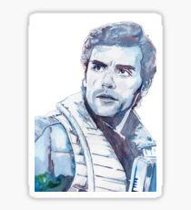 Oscar Isaac Watercolour Sticker
