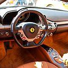 Interior of a 2010 Ferrrari F458 by Chris L Smith