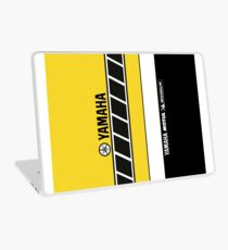 Team Yamaha Black and Yellow Laptop Skin