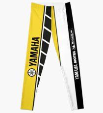 Team Yamaha Black and Yellow Leggings