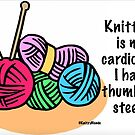 Knitting is my cardio by KnitzyBlonde