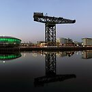 Clyde Waterfront After Sunset by Grant Glendinning