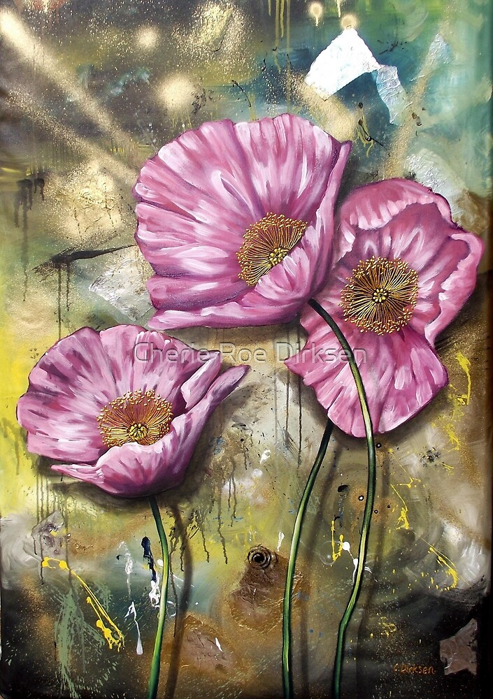 Pink Poppies (Finding Beauty in Chaos series) by Cherie Roe Dirksen