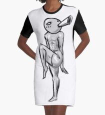 Muscular Pingu Graphic T-Shirt Dress