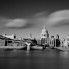 St Paul's Cathedral and Millenium Bridge by Ursula Rodgers Photography