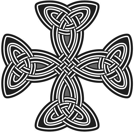 Pósters Cruz Celta Blanco Y Negro Cristo Cristiano Jesús Fe