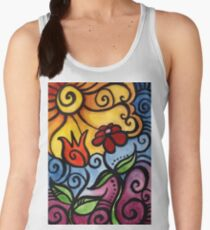 Colorful Summer Sun Flowers Women's Tank Top