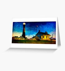 Tybee Lighthouse Fantasy - Night Falls on The Georgia Coast Greeting Card