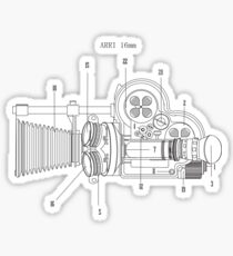 Arriflex 16mm Film Camera Sticker