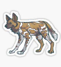 Painted Dog Sticker Sticker