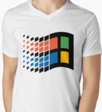 Windows 95 Logo Men's V-Neck T-Shirt