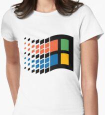 Windows 95 Logo Womens Fitted T-Shirt