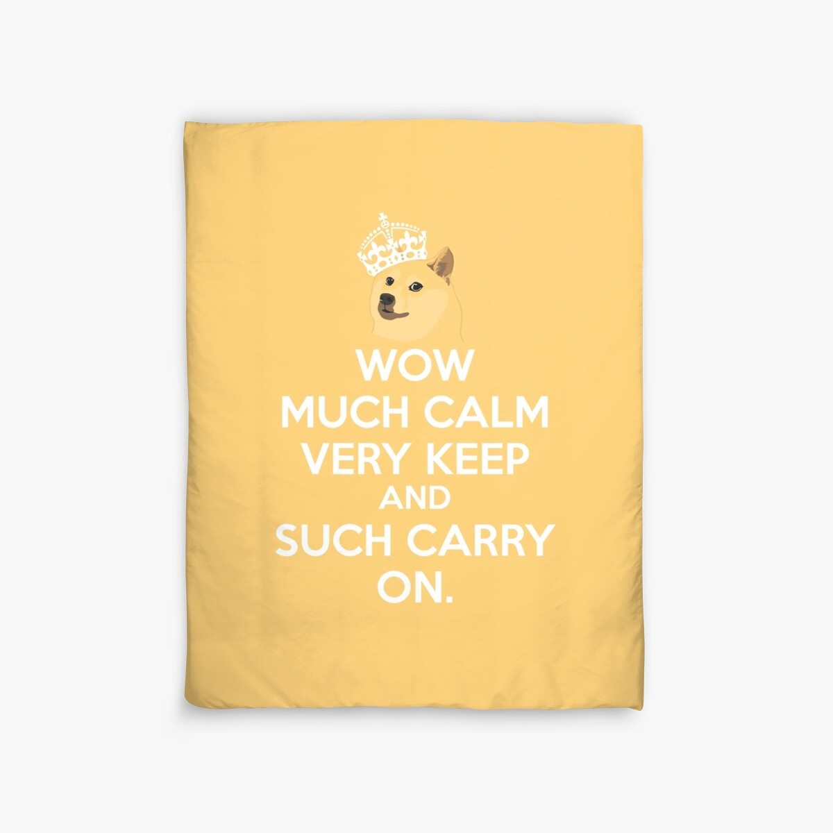 Doge meme keep calm - wow much calm\