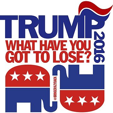 TRUMP 2016! What have YOU got to lose? by BringCrazyBack