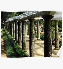 Italian Garden - Pillars   ^ Poster