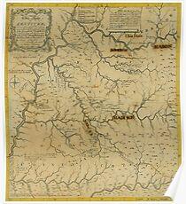 Map Of Kentucky 1784 Poster
