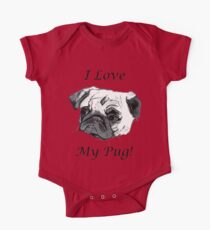 I Love My Pug! T-Shirt , Hoodie, Phone Cases & More! Kids Clothes
