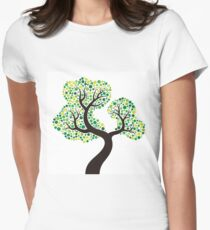 Colorful tree, colouring art T-shirt col V femme