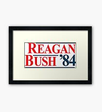Legendary Regan Bush 84 Campaign Framed Print
