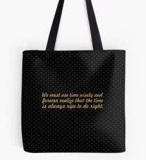 "We must use time... ""Nelson Mandela"" Inspirational Quote Tote Bag"