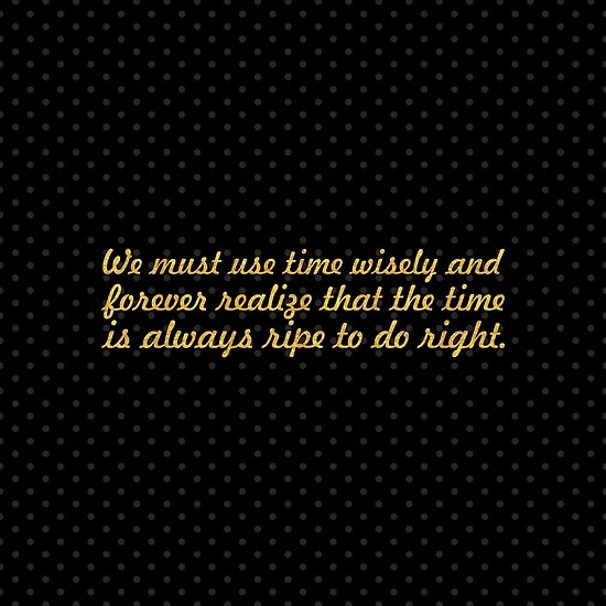 """We must use time... """"Nelson Mandela"""" Inspirational Quote (Square) by Powerofwordss"""
