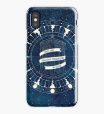 Time and Relative Dimension in Space iPhone Case/Skin