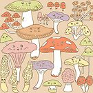 Cute Mushrooms by abamber